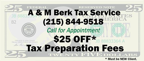 A & M Berk Tax Services - Tax Preparation Coupon
